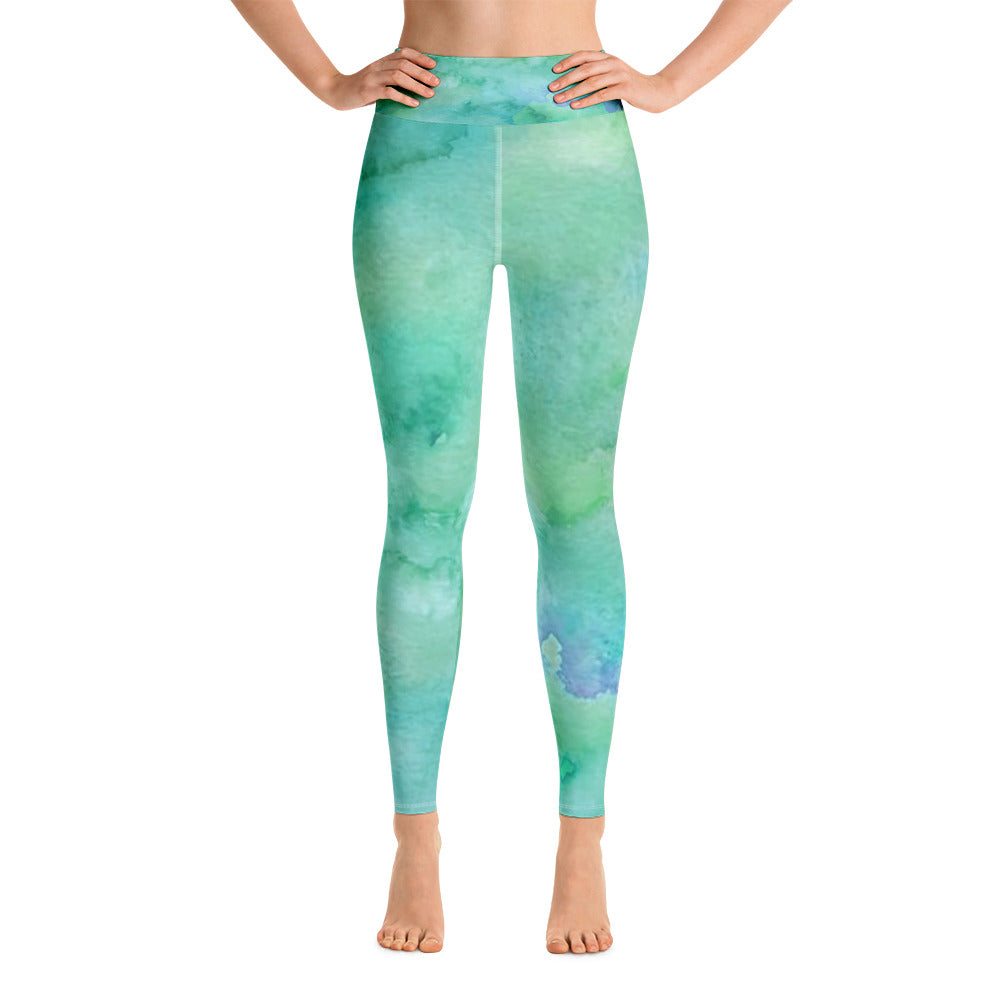 Tie Dye Yoga Leggings with Inner Pocket | Women's - Baby Pea Clothing Fashion for Babies & Kids of all ages