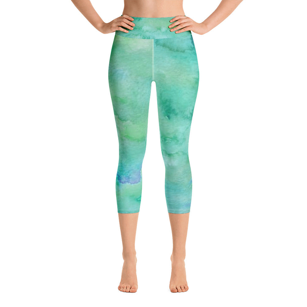 Tie Dye Yoga Capri Leggings | Women's - Baby Pea Clothing Fashion for Babies & Kids of all ages