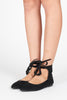Lorelei Ankle-Tie Pointy Flat - Black