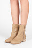 Paige Double Zip Flat Boot - Beige