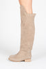 Rae Over-the-knee Flat Boot - Beige