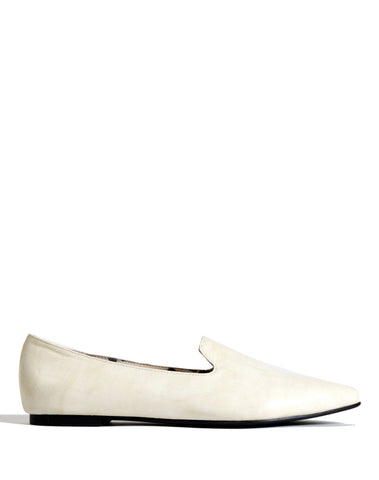 Maricela Pointy Loafer Flat - Bone