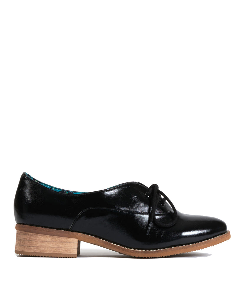 Lelaina Lace-up Oxford - Black