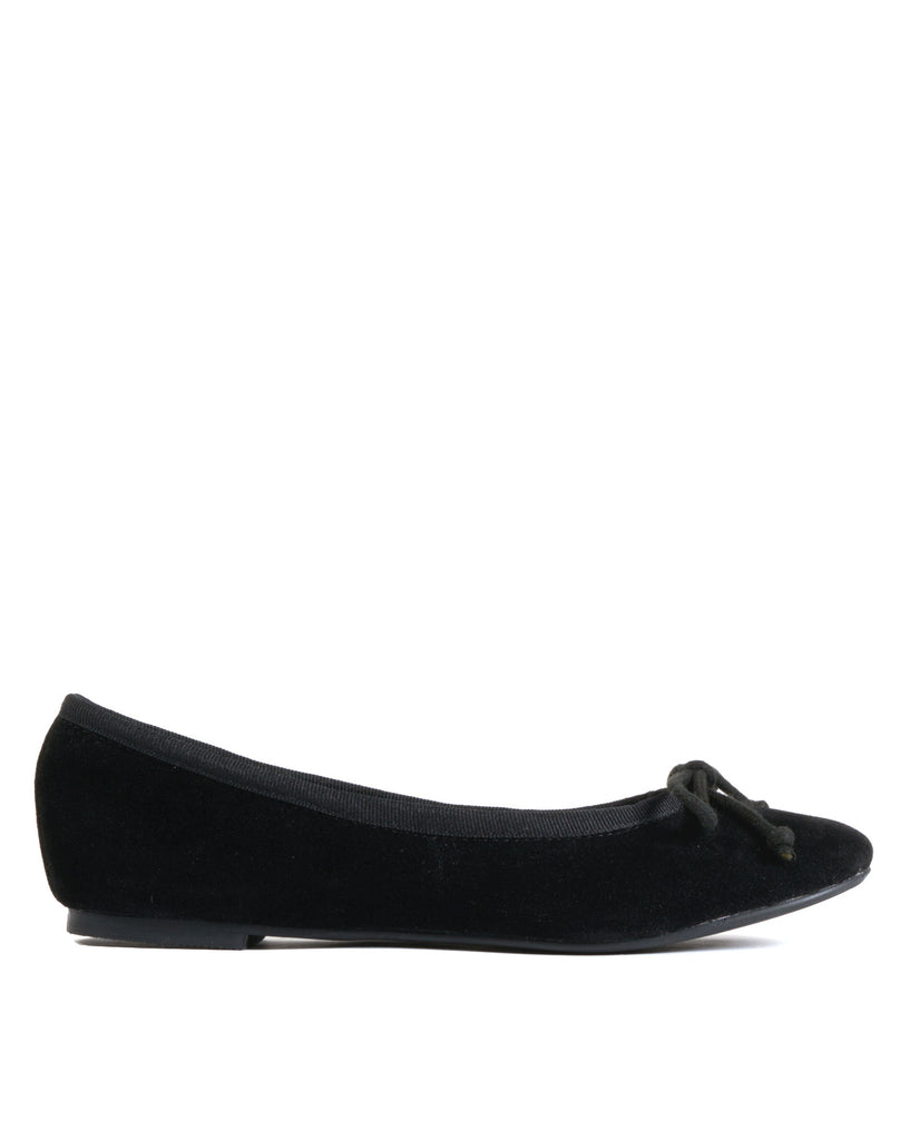 Pepper Ballet Skimmer - Black Suede