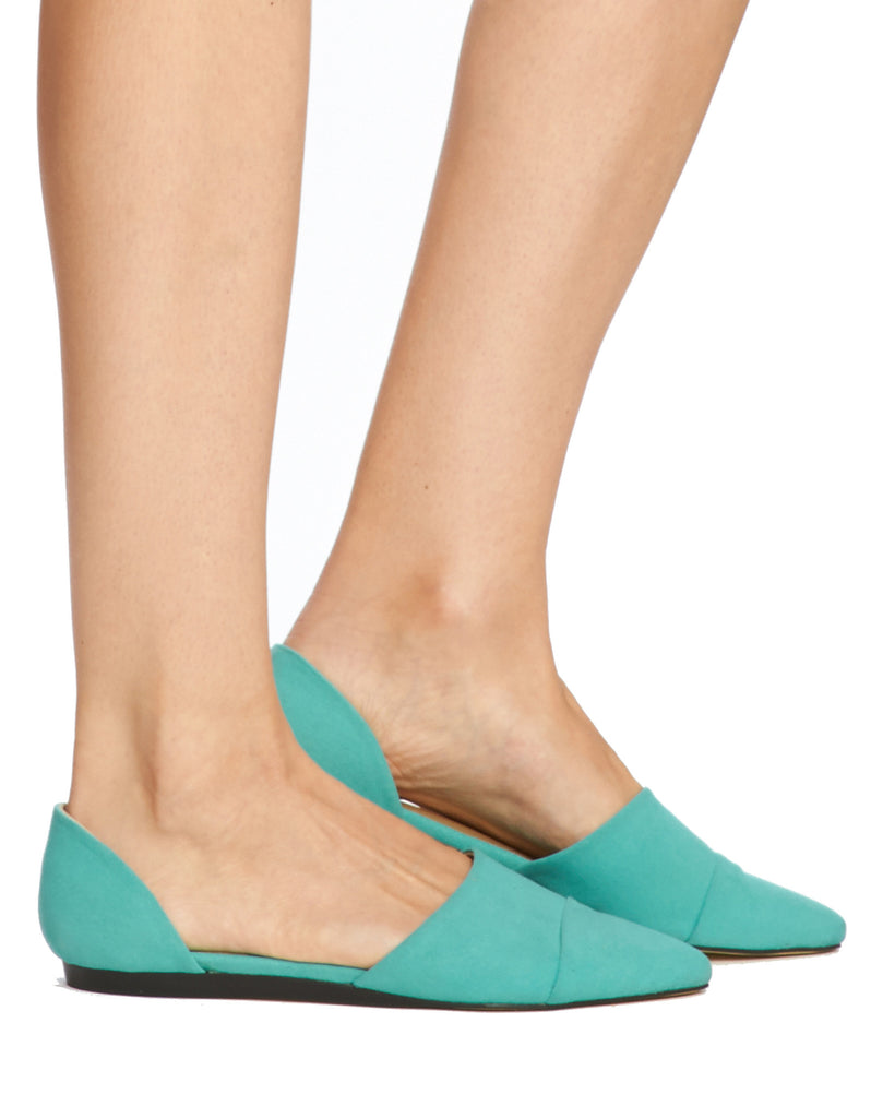 Kimi D'orsay Flat - Teal - was $110