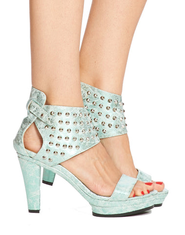 Emerson Studded Platform Sandal - Mint - was $170