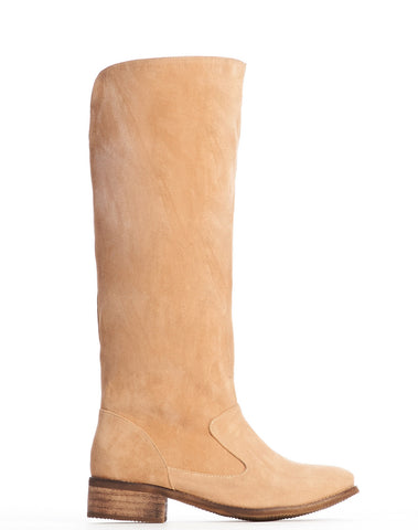 Anne Pull-on Tall Boot - Beige