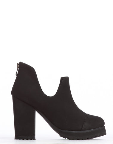 Arden Wohl x CDC Bloom Cap-toe Bootie - Black