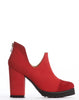 Arden Wohl x CDC Bloom Cap-toe Bootie - Red