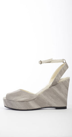 Bounty Ankle-Strap Wedge - Gray