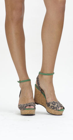 Bounty Ankle-Strap Wedge - Leopard