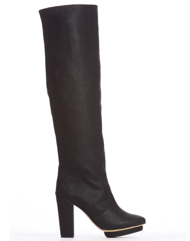Arden Wohl x CDC Collins Tall Platform Boot - Black