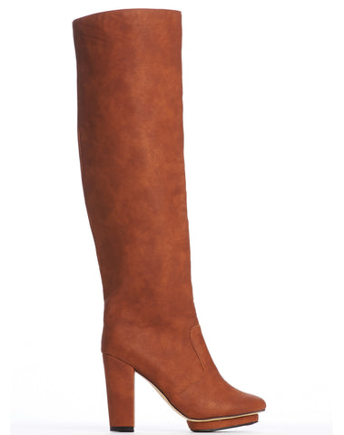Arden Wohl x CDC Collins Tall Platform Boot - Brown