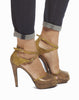 Dina Double Ankle Strap Sandal - Gold - was $170