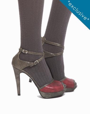 Dina Double Ankle Strap Sandal - Silver - was $170