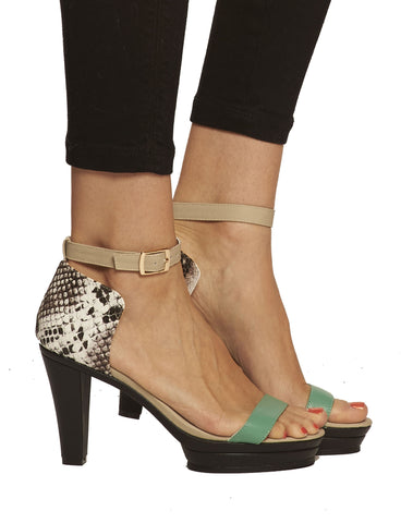 Dove Ankle Strap Platform Sandal - Gray - was $165