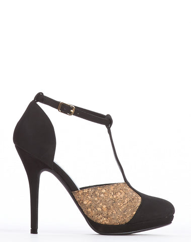 Arden Wohl x CDC Eastlake T-strap Stiletto - Black
