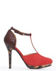 Arden Wohl x CDC Eastlake T-strap Stilettos - Red - was $280