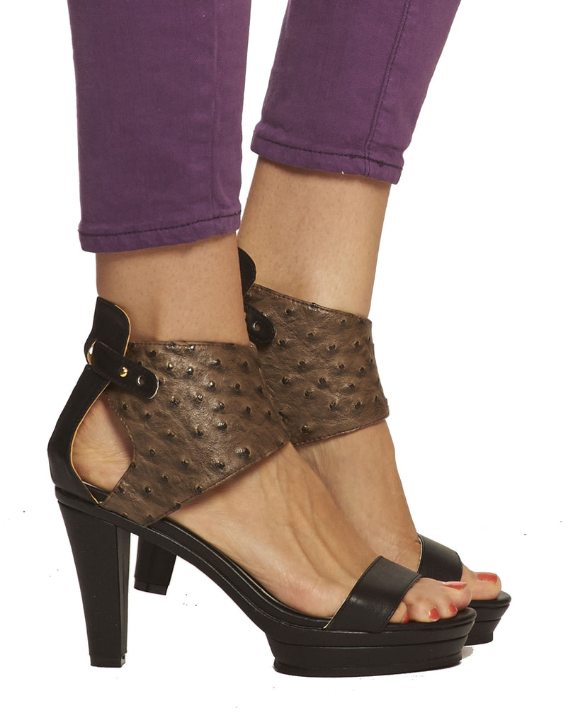 Emerson Ankle Cuff Platform Sandal - Black - was $165
