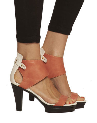Emerson Ankle Cuff Platform Sandal - Peach - was $165