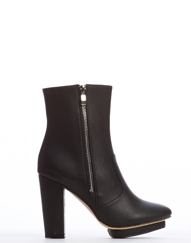 Arden Wohl x CDC Everett Double Zip Bootie - Black