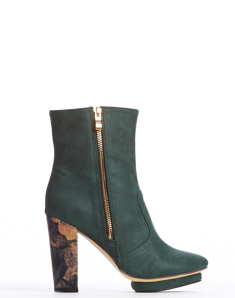 Arden Wohl x CDC Everett Double Zip Bootie - Forest