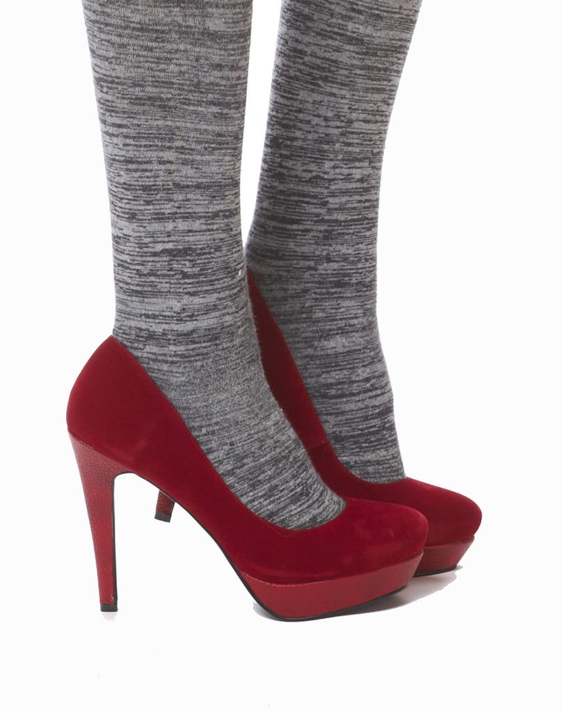 Margaret Velvet Pump - Red - was $150
