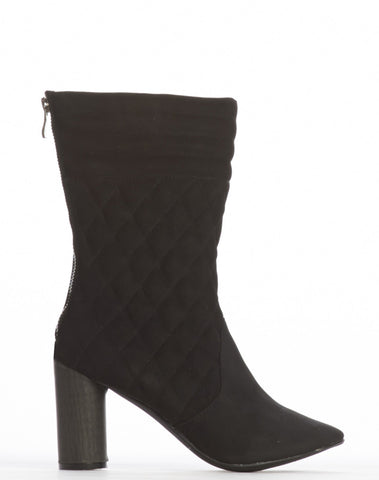 Marie Quilted Bootie - Black - was $170