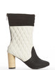 Marie Quilted Bootie - Black/White - was $170