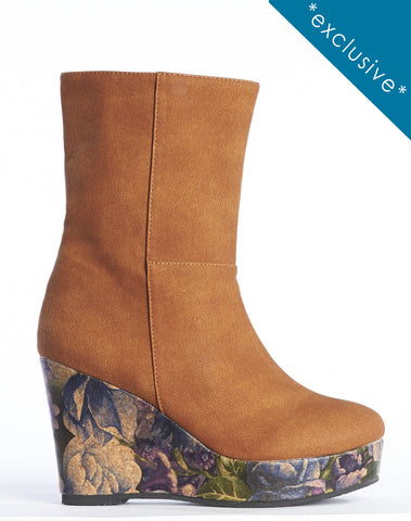 Arden Wohl x CDC Morriss Wedge Bootie - Brown
