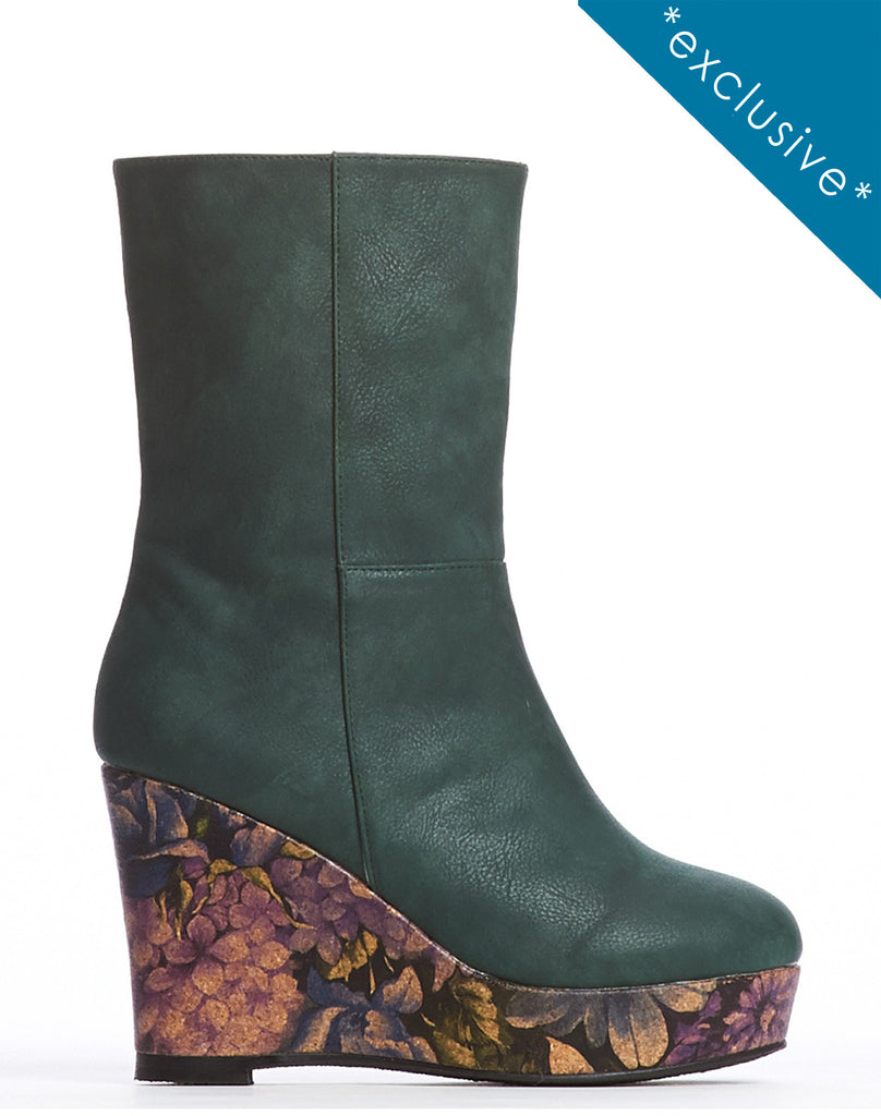 Arden Wohl x CDC Morriss Wedge Bootie - Forest