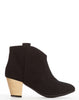 Ninette Pull-on Bootie - Black Suede