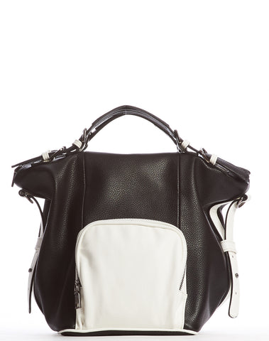 Orian Satchel Bag - Black/White