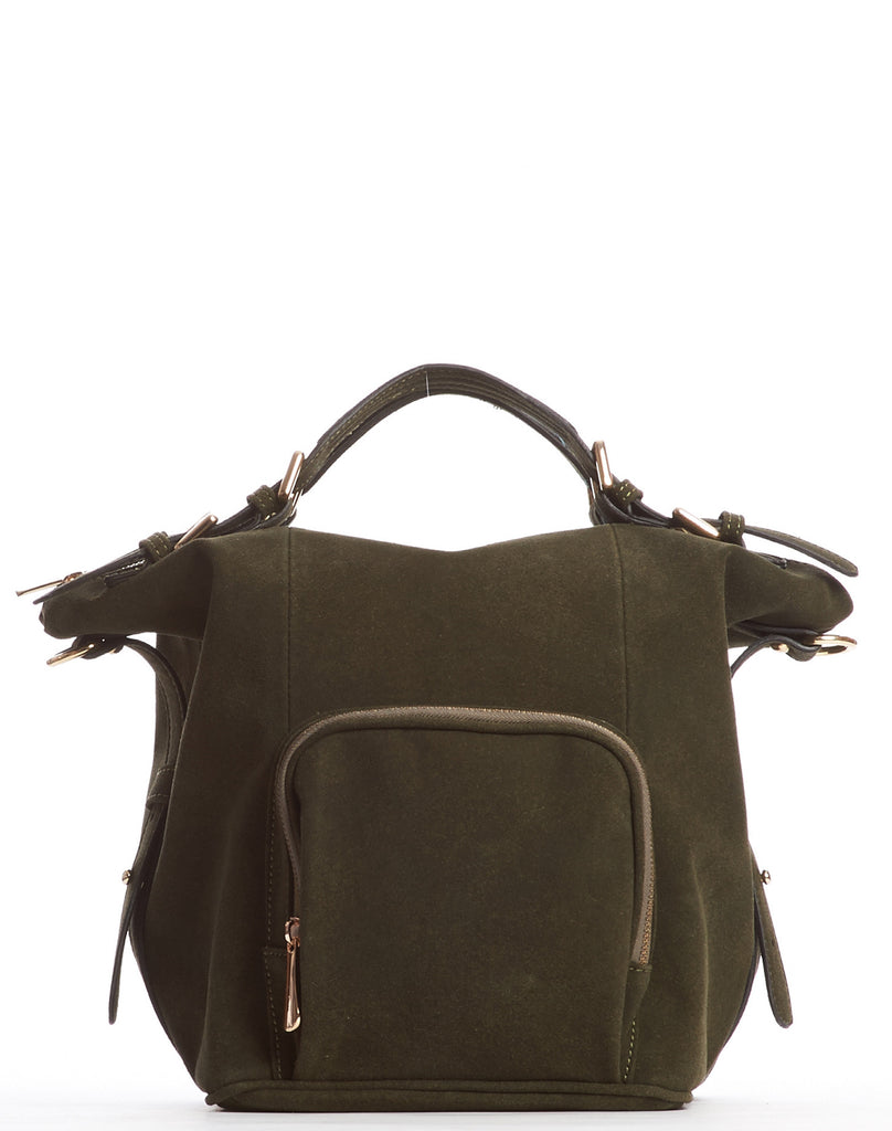 Orian Ultrasuede Satchel Bag - Olive