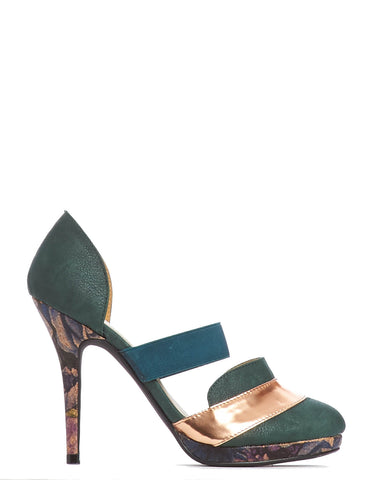 Arden Wohl x CDC Patmore D'orsay Stiletto - Forest