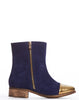Arden Wohl x CDC Percy Double Zip Flat Boot - Navy