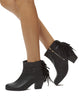 Rachel Fringe Bootie - Black - was $160