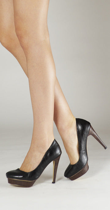 Sentiment Offset Platform Pump - Black