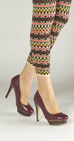 Sentiment Offset Platform Pump - Eggplant