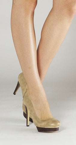 Sentiment Offset Platform Pump - Nude