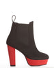 Simone Elastic Platform Bootie - Black/Red - was $160
