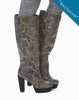 Sylvia Tall Platform Boot - Snake - was $180