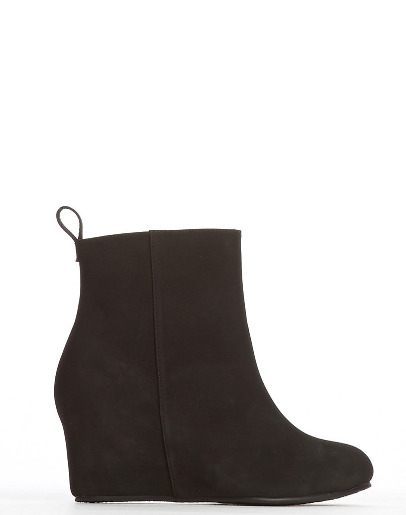 Tamara Covered Wedge Bootie - Black