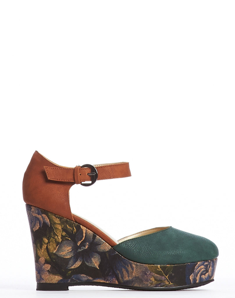 Arden Wohl x CDC Tate Wedge - Forest - was $280