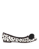 Arden Wohl x CDC Waterhouse Pom-pom Flats - Black/White