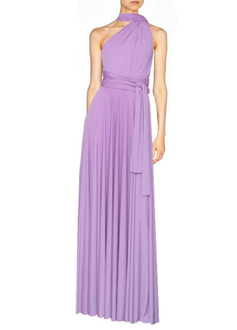 Long infinity bridesmaid dress Lavender convertible gown for prom, evening or formal occasions XS-5XL