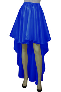 Royal blue satin skirt High low bridesmaids skirt Plus size prom formal mullet skirt XS-5XL
