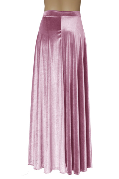 Pink velvet skirt Bridesmaid separates A-line maxi skirt Plus size formal skirt Long prom skirt