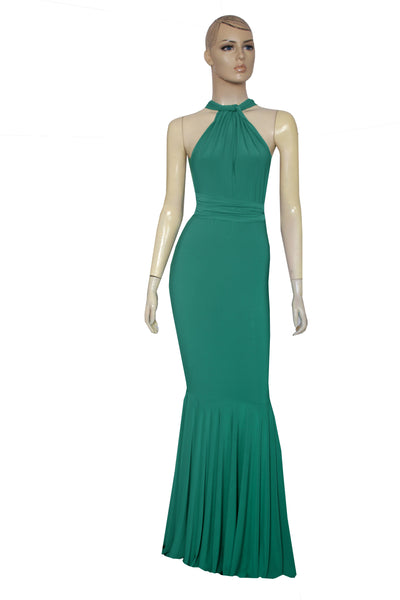 Bridesmaid Dress Emerald Green Infinity Gown Mermaid Multiway Dress Convertible Plus Size Gown Formal Fishtail Dress Prom Gown XS-5XL