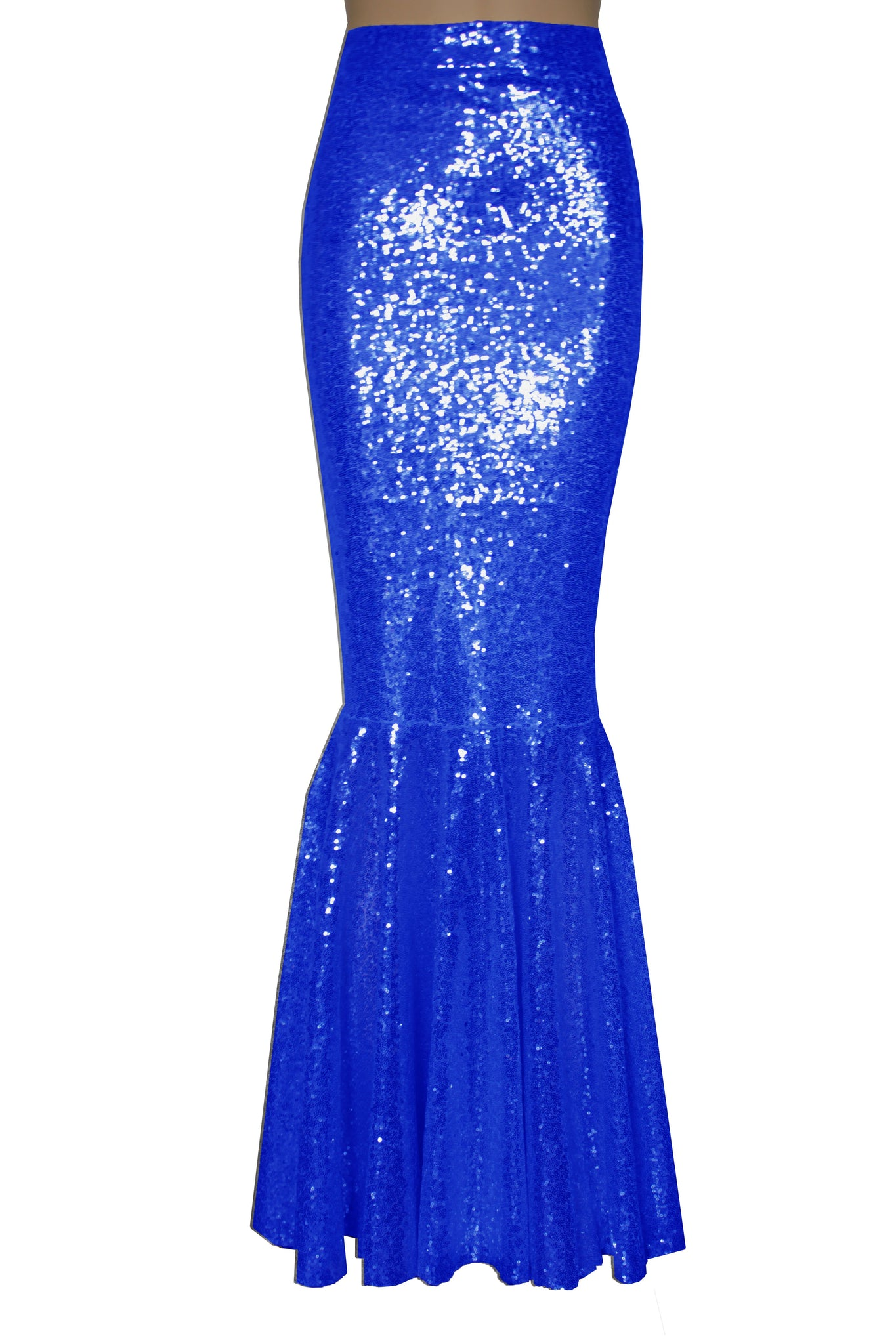 Mermaid Sequin Skirt Bridesmaid Royal Blue Bottoms Maxi Prom Skirt Fishtail Plus Size Metallic Bottoms Formal Skirt XS-5XL